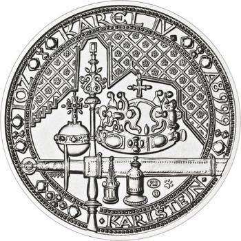 Nejkrásnější medailon IV. - Karlštejn Ag b.k. - 1