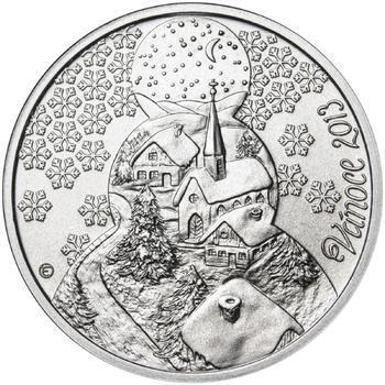 Vánoce 25 mm stříbro b.k. - 1