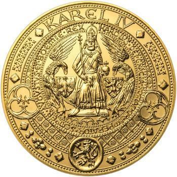 Nejkrásnější medailon II. Královská pečeť - 1 kg Au b.k. - 1