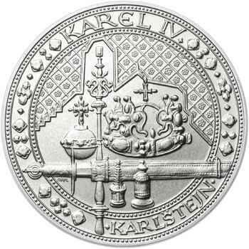 Nejkrásnější medailon IV. - Karlštejn 50 mm Ag b.k. - 1
