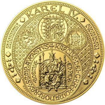 Nejkrásnější medailon III. Císař a král - 1 kg Au b.k. - 1