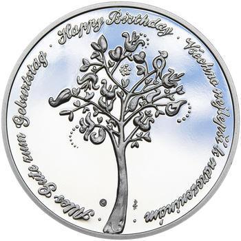 Medaile k životnímu výročí 10 let - 1 Oz stříbro Proof, 10 let