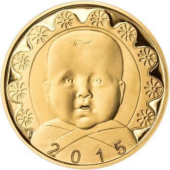 2015 - Dukát k narození dítěte - Miminko v peřince, 2015 - Dukát k narození dítěte - Miminko v peřince - 1