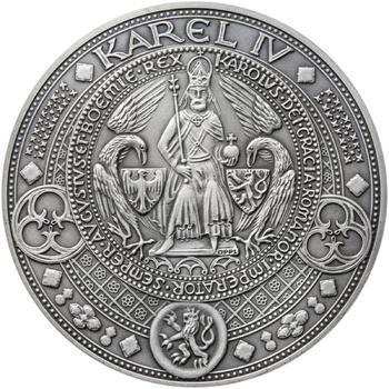 Nejkrásnější medailon II. - Královská pečeť - 50 mm Ag patina - 1
