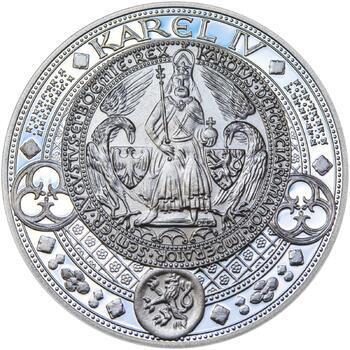 Nejkrásnější medailon II. - Královská pečeť - 50 mm Ag Proof - 1
