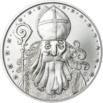 Čert a Mikuláš 25 mm stříbro b.k. - 1