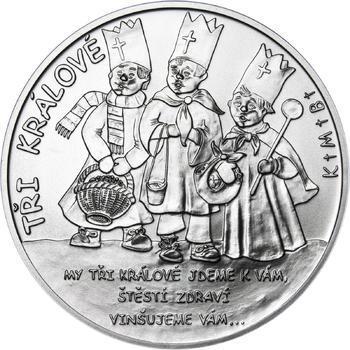 Tři králové 25 mm stříbro b.k. - 1
