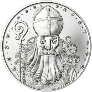 Čert a Mikuláš 50 mm stříbro b.k. - 1