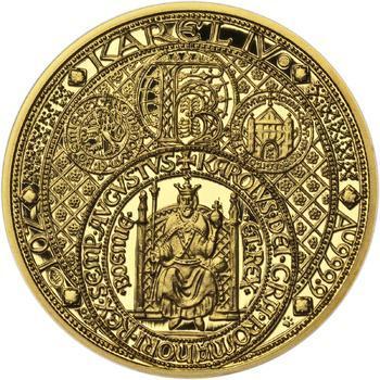 Nejkrásnější medailon III. - Císař a král zlato Proof - 1