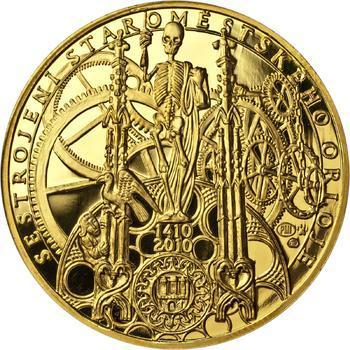 Proof - Pražské dukáty - 10 dukát - Staroměstský orloj Au - 1