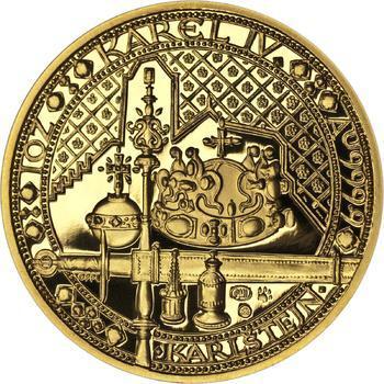 Nejkrásnější medailon IV. - Karlštejn zlato Proof - 1