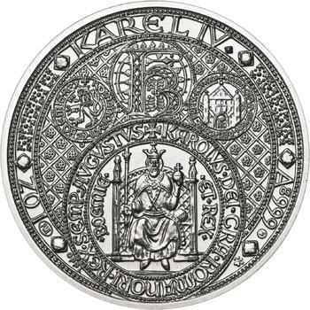 Nejkrásnější medailon III. Císař a král - 50 mm Ag b.k. - 1
