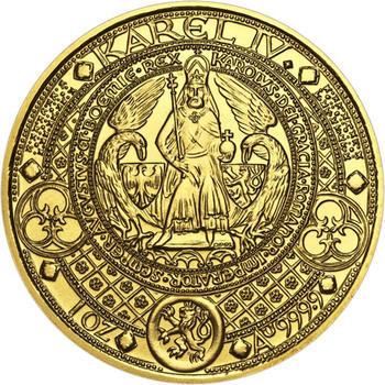 Nejkrásnější medailon II. - Královská pečeť - 2 Oz zlato Proof - 1