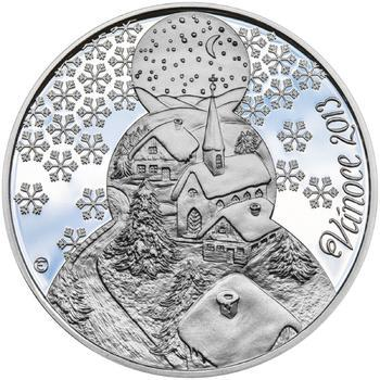 Vánoce 50 mm stříbro Proof - 1