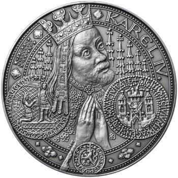 Nejkrásnější medailon I. Nové Město pražské - 1 kg Ag patina - 1