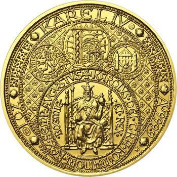 Nejkrásnější medailon III. Císař a král - 2 Oz zlato b.k. - 1