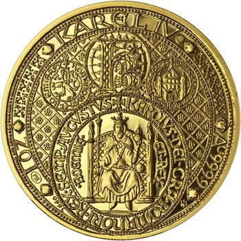 Nejkrásnější medailon III. Císař a král - 2 Oz zlato Proof - 1