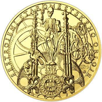 b.k. - Pražské dukáty - 10 dukát - Staroměstský orloj Au - 1