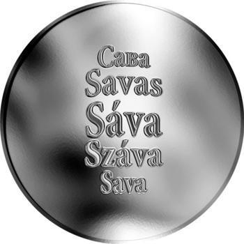 Česká jména - Sáva - stříbrná medaile - 1