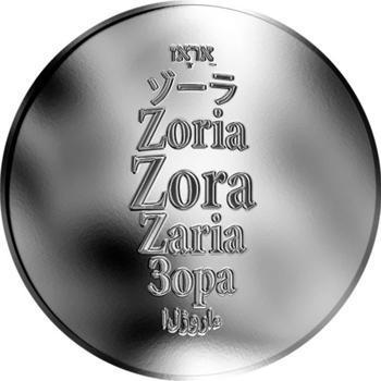Česká jména - Zora - stříbrná medaile - 1