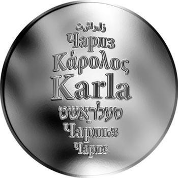 Česká jména - Karla - stříbrná medaile - 1