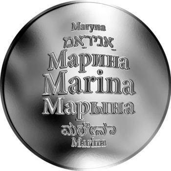 Česká jména - Marina - stříbrná medaile - 1