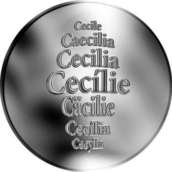 Česká jména - Cecílie - stříbrná medaile - 1
