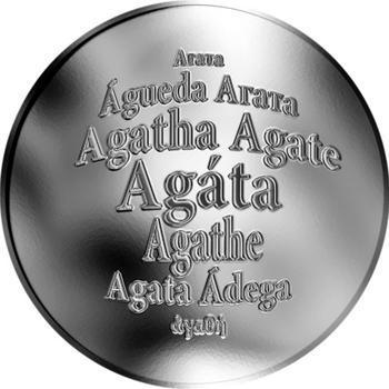 Česká jména - Agáta - stříbrná medaile - 1