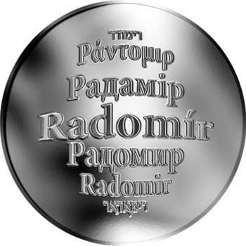 Česká jména - Radomír - stříbrná medaile - 1
