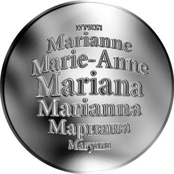 Česká jména - Mariana - stříbrná medaile - 1