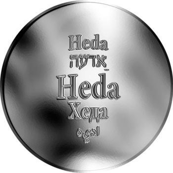 Česká jména - Heda - stříbrná medaile - 1