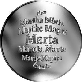 Česká jména - Marta - stříbrná medaile - 1