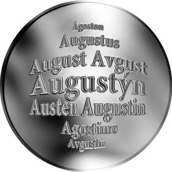 Česká jména - Augustýn - stříbrná medaile - 1