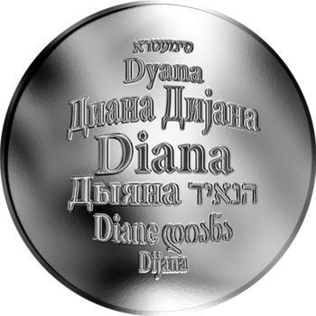 Česká jména - Diana - stříbrná medaile - 1