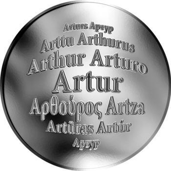Česká jména - Artur - stříbrná medaile - 1