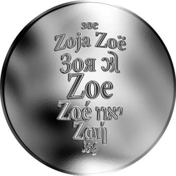 Česká jména - Zoe - stříbrná medaile - 1