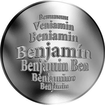 Česká jména - Benjamín - stříbrná medaile - 1