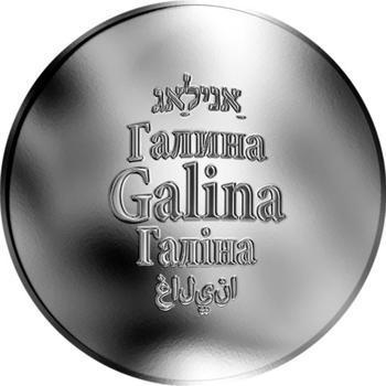 Česká jména - Galina - stříbrná medaile - 1