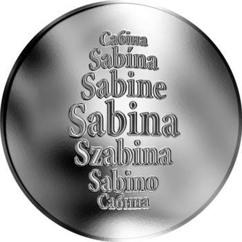 Česká jména - Sabina - stříbrná medaile - 1