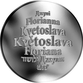 Česká jména - Květoslava - stříbrná medaile - 1