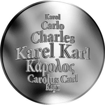 Česká jména - Karel - stříbrná medaile - 1