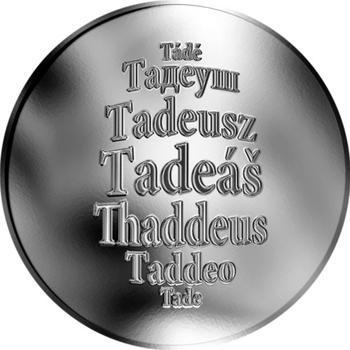 Česká jména - Tadeáš - stříbrná medaile - 1