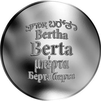 Česká jména - Berta - stříbrná medaile - 1