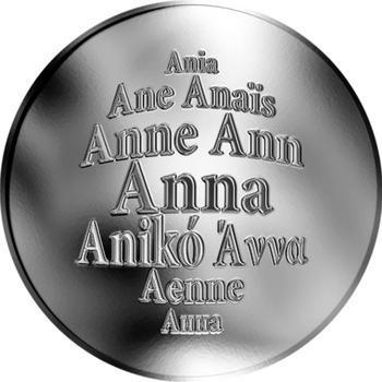 Česká jména - Anna - stříbrná medaile - 1