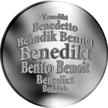 Česká jména - Benedikt - stříbrná medaile - 1