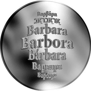 Česká jména - Barbora - stříbrná medaile - 1