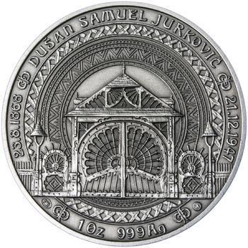 Dušan Samuel Jurkovič ( 60 let od jeho úmrtí ) - stříbro patina - 1
