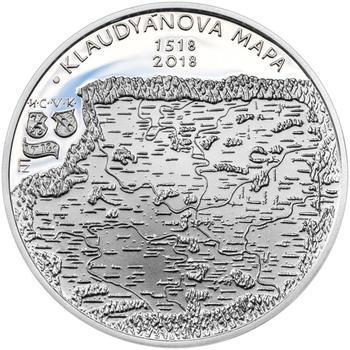 Mince ČNB - 2018 b.k. - 200 Kč Vydání Klaudyánovy mapy – první mapy Čech - 1