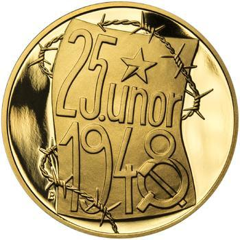 25. únor 1948 - 66. výročí od komunistického puče - 1/2 Oz zlato Proof - 1