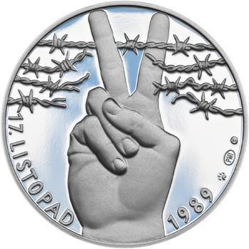 17. listopad 1989 - stříbro malá Proof - 1